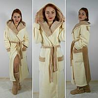 Махровый халат длинный