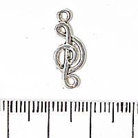 [2см] Фурнитура Подвеска  Скрипичный ключ