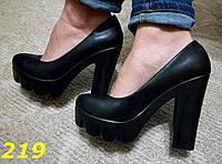 Женские туфли на тракт. платформе, черные, р,36,39