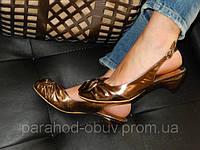 Босоножки женские кожаные без каблука № 303
