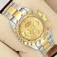 Мужские наручные часы Rolex Daytona Men Silver/Gold (механические)