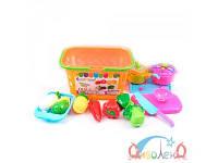 Детский набор продуктов в корзинке