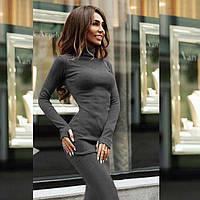 Платье облегающее с молнией на спине графит 065