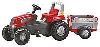 Педальный трактор Rolly Toys Junior с прицепом красный