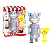 Животное 2082 (12шт) Кот Том, р/у, повторюшка, муз(англ), свет, на бат-ке,в кор-ке, 34,5-27-11см