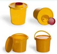 """Емкость-контейнер одноразовый для сбора медицинских отходов """"Киль-К"""", класс Б (желтый), 1л"""