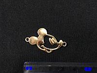 Пришивная металлическая эмблема Микки Маус