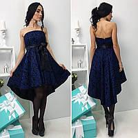 """Платье женское """"Вышивка на атласе"""""""