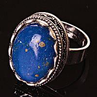 Кольцо без р-р  овал ажур Лазурит