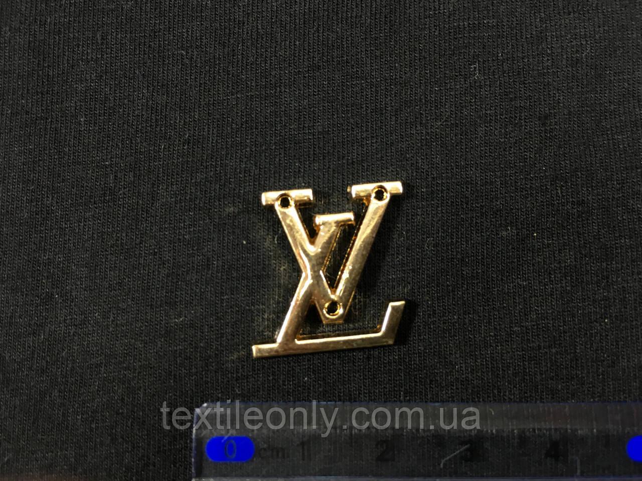 Пришивная металлическая эмблема louis vuitton