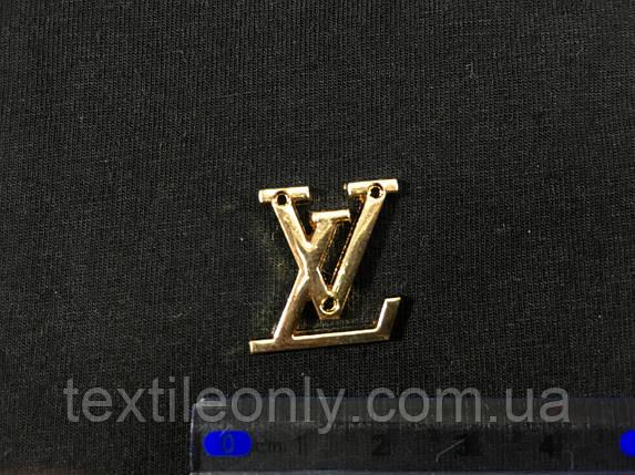 Пришивная металлическая эмблема louis vuitton, фото 2