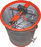 Медогонка 3-х рамочная алюмоцинковая  с неповоротными кассетами, фото 2