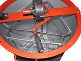 Медогонка 3-х рамочная алюмоцинковая  с неповоротными кассетами, фото 4