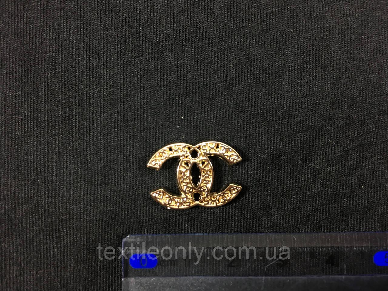 Пришивная металлическая эмблема Chanel