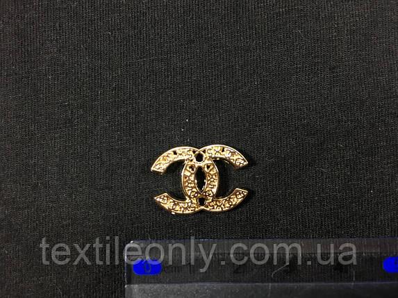 Пришивная металлическая эмблема Chanel , фото 2
