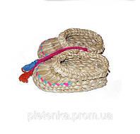 Лапти плетенные из аира сувенирные