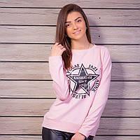 Модный женский свитшот с принтом, цвет - розовый