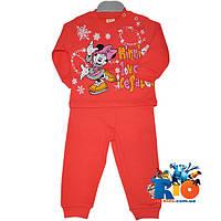 """Красивый детский костюм """"Минни Маус и Каток"""" , трикотаж , для девочек 1-2 года"""