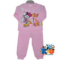 """Красивый детский костюм """"Минни Маус и Каток"""" , трикотажный , для девочки 1-2 года"""