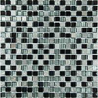 Декоративная мозаика микс серебро с черным Vivacer DAF23