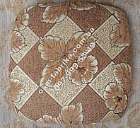 Подушка с поролоном для табуреток на резинке