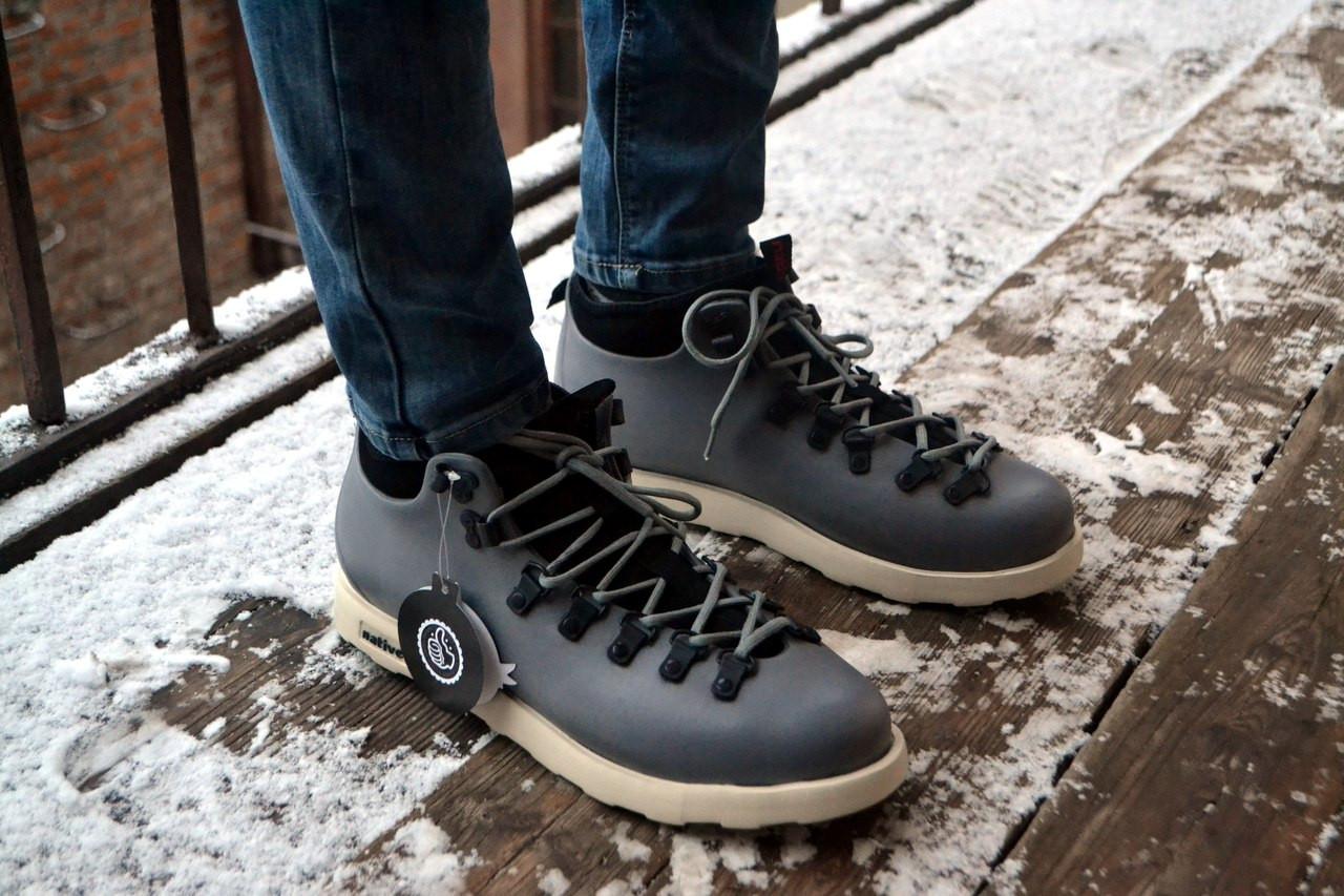 Мужские Ботинки Native Серые Топ Реплика — в Категории