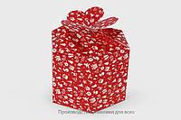 """Коробка """"Шестиугольная"""" Новый год, Красная"""