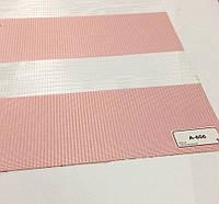 Рулонная штора день-ночь нежно розовый