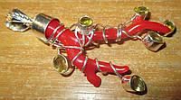 Серебряный кулон  с красным океаническим кораллом и цитринами от студии  LadyStyle.Biz