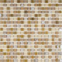 Мозаика микс мрамор и стекло коричневая Vivacer CS07