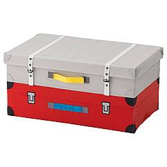 FLYTTBAR Коробка для игрушек, красный