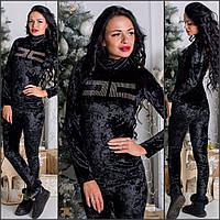 Шикарный женский костюм из бархата-велюра
