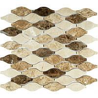 Декоративная мозаика из бежевого мрамора Vivacer RL008
