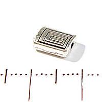 [7х6 мм] Вставка между бусинами прямоугольная плоская на 1 нить