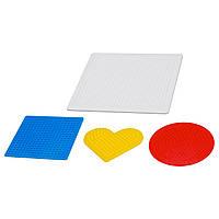PYSSLA Плато для мозаики,4 штуки, разные цвета