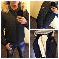 Куртка мужская с мехом енота ЗИМА