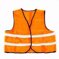 Жилет со светоотражающей лентой (оранжевый)