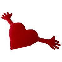 Подушка детская IKEA FAMNIG HJÄRTA красная 274.704.60