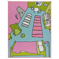 Ковер детский икеа RUMMET с коротким ворсом, разноцветный, IKEA, 503.566.82