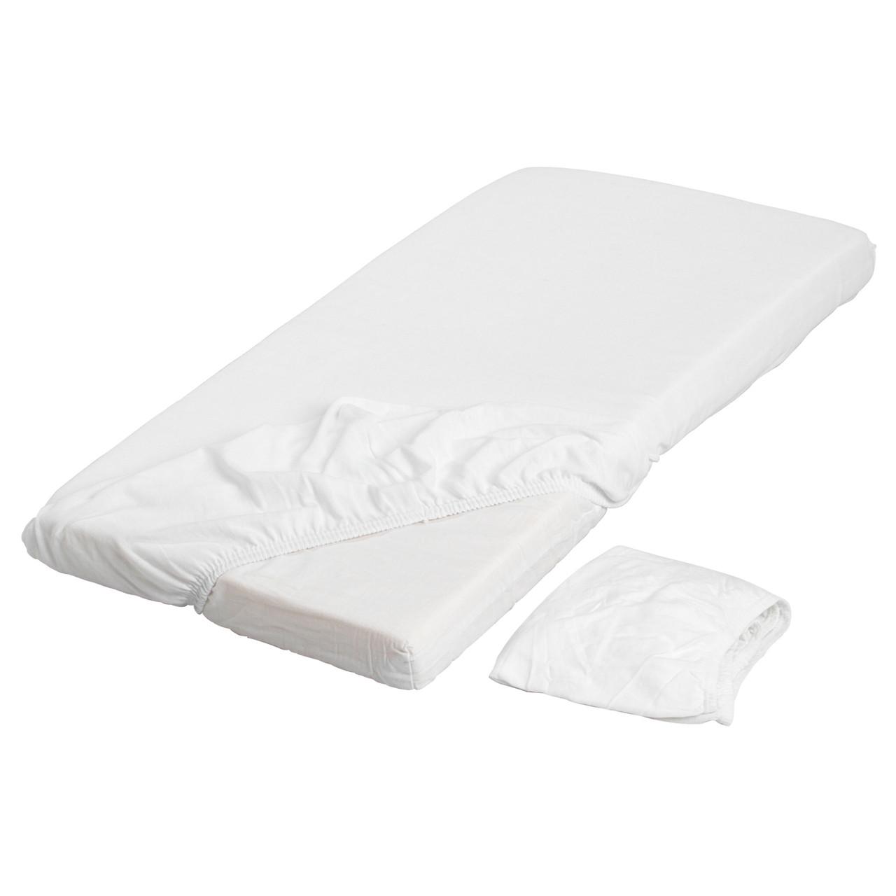 Простыня с резинкой IKEA LEN 70x160 см белая 701.286.13