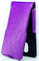 Чехол Status Flip для HTC One M7 Purple