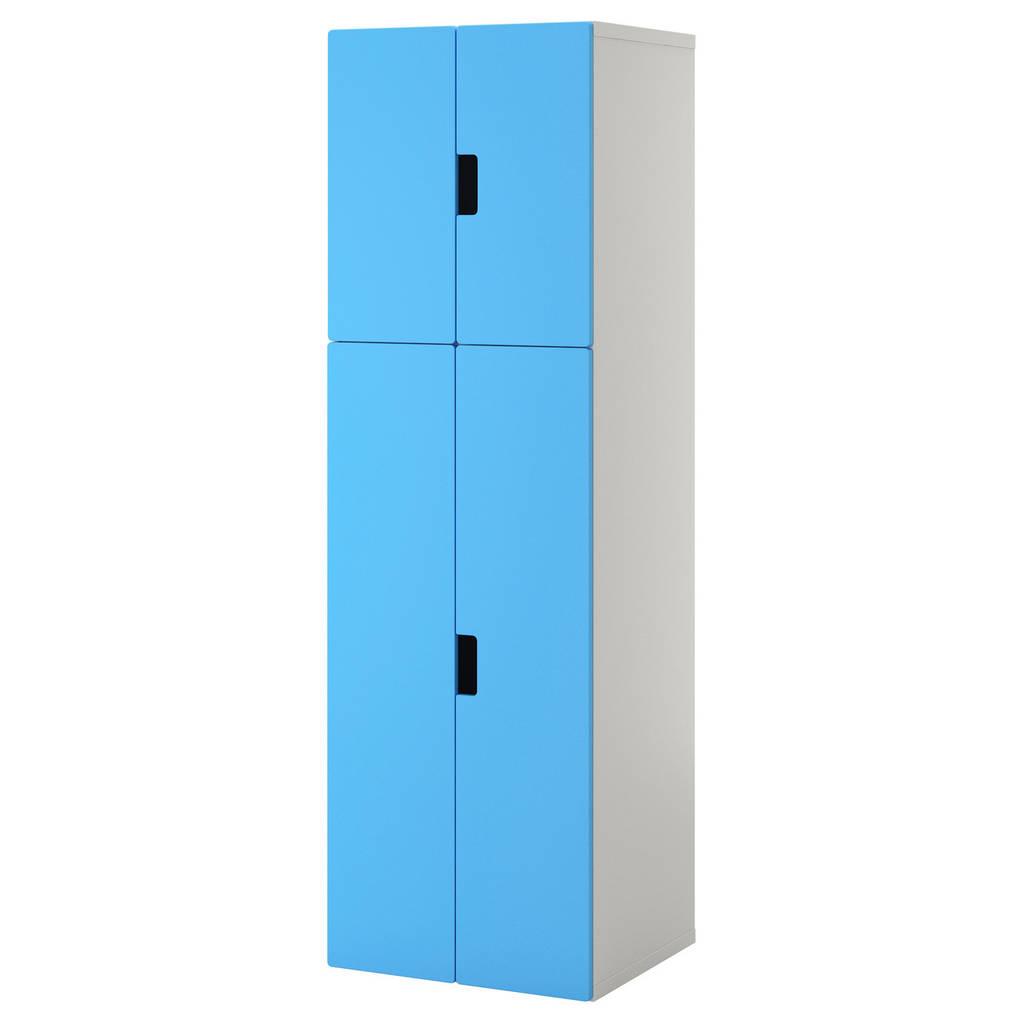 STUVA Комбинация с дверцами, белый, синий