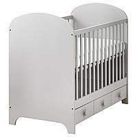 GONATT Детская кроватка, светло-серый
