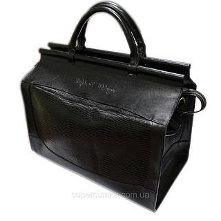 Стильный саквояж мужской дорожный кожаный 25 л. Mykhail Ikhtyar ДхГхВ: 44х18х40 см.