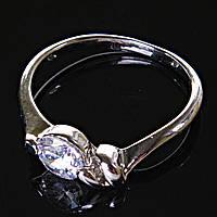 [17,18,19] Кольцо Помолвочное абстракция с камнем 17