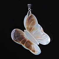 [60/50 мм] Кулон подвеска Бабочка Перламутр