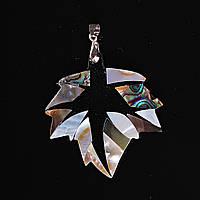 [50/50 мм] Кулон подвеска Лист Космос Перламутр Халиотис