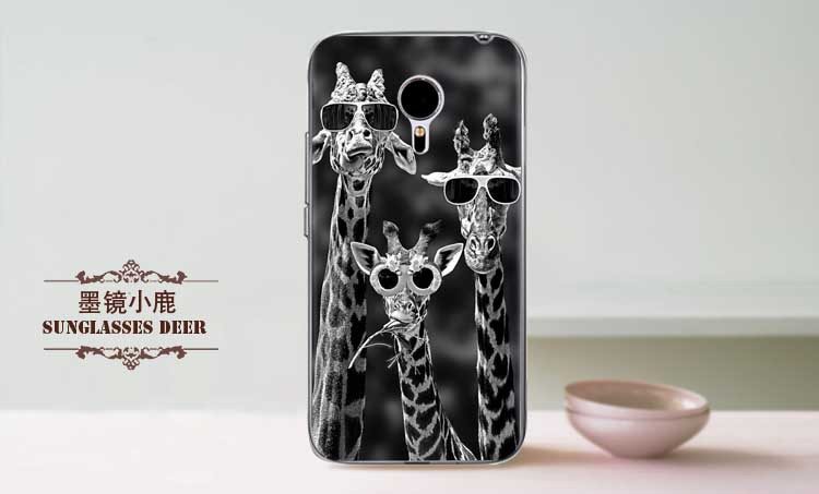 Чехол для Meizu M3 note с рисунком Три жирафа в очках