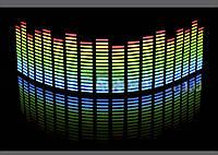 Эквалайзер  синий-зеленый-желтый-красный 70х16см.