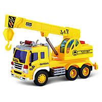 Игрушечные машинки и техника «Junior trucker» (33025) автомобильный кран, 28 см